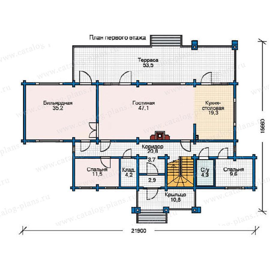 План 1-этажа проекта 11-55