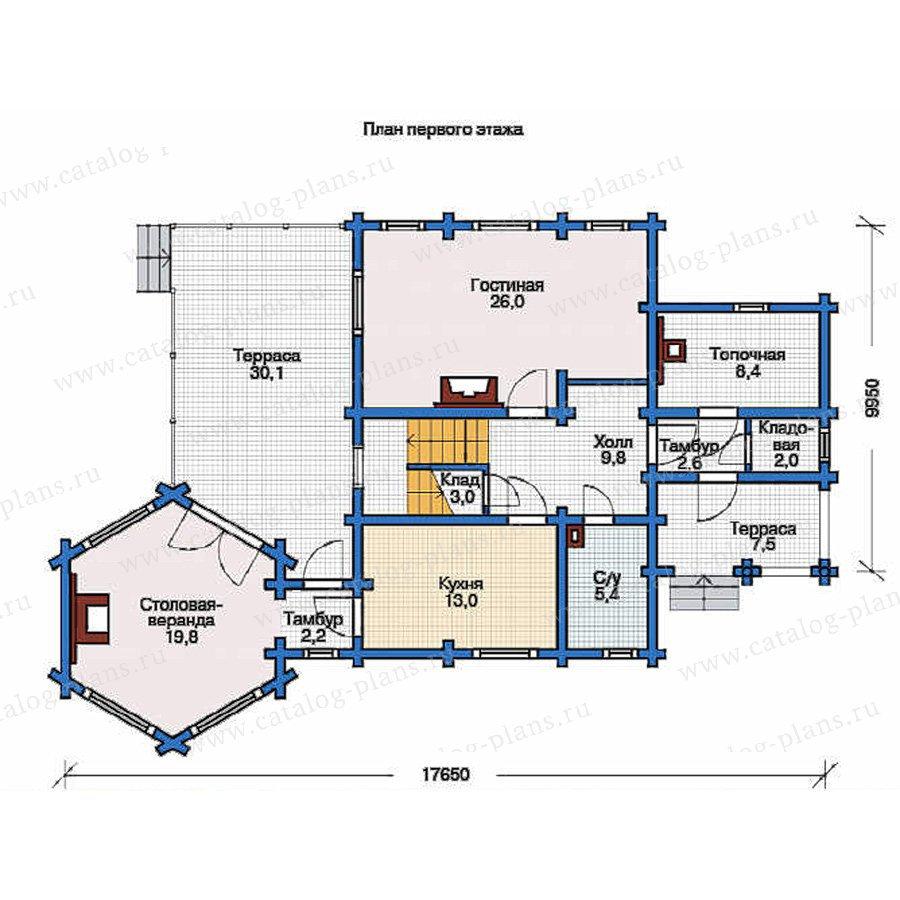 План 1-этажа проекта 11-76