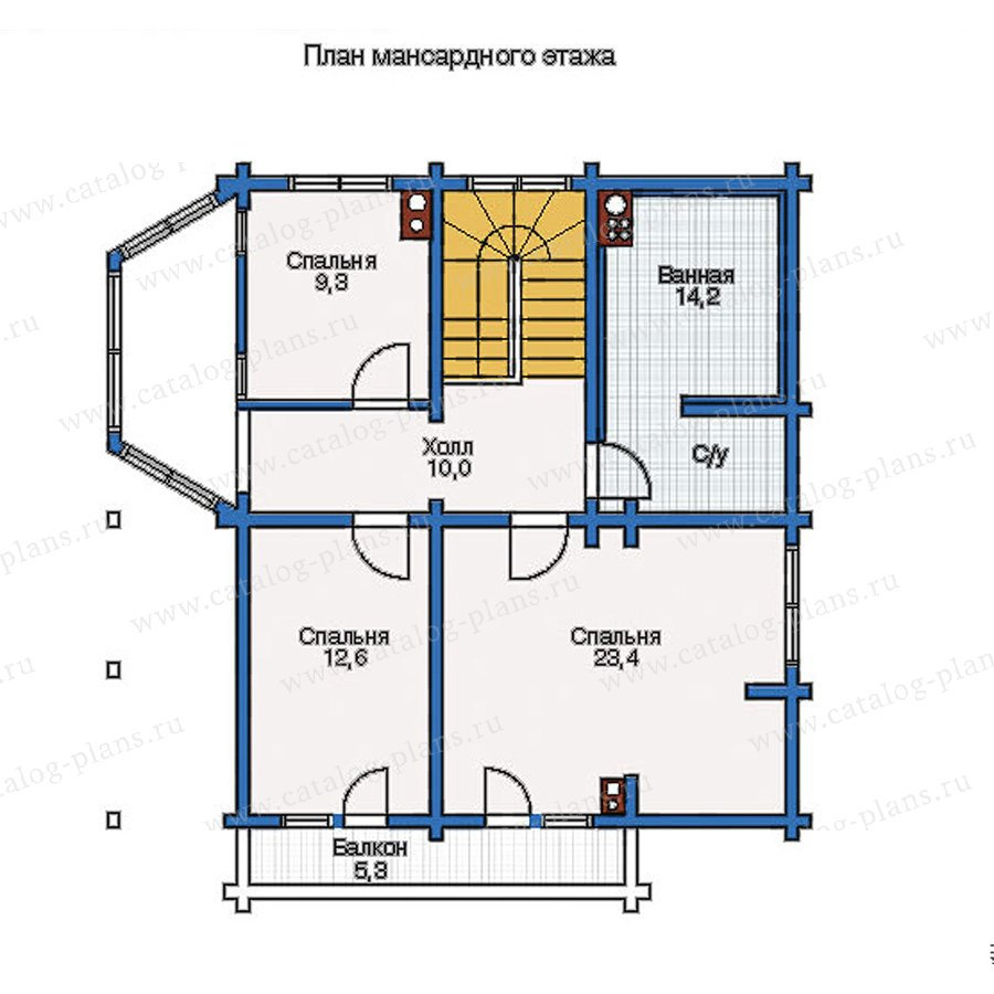 План 2-этажа проекта 11-12