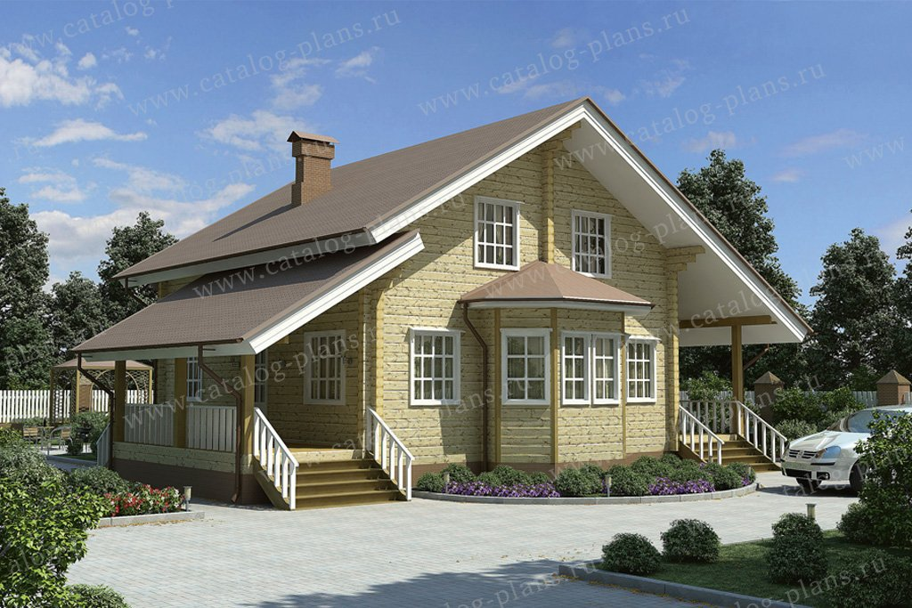 Проект жилой дом #11-36 материал - дерево, стиль скандинавский