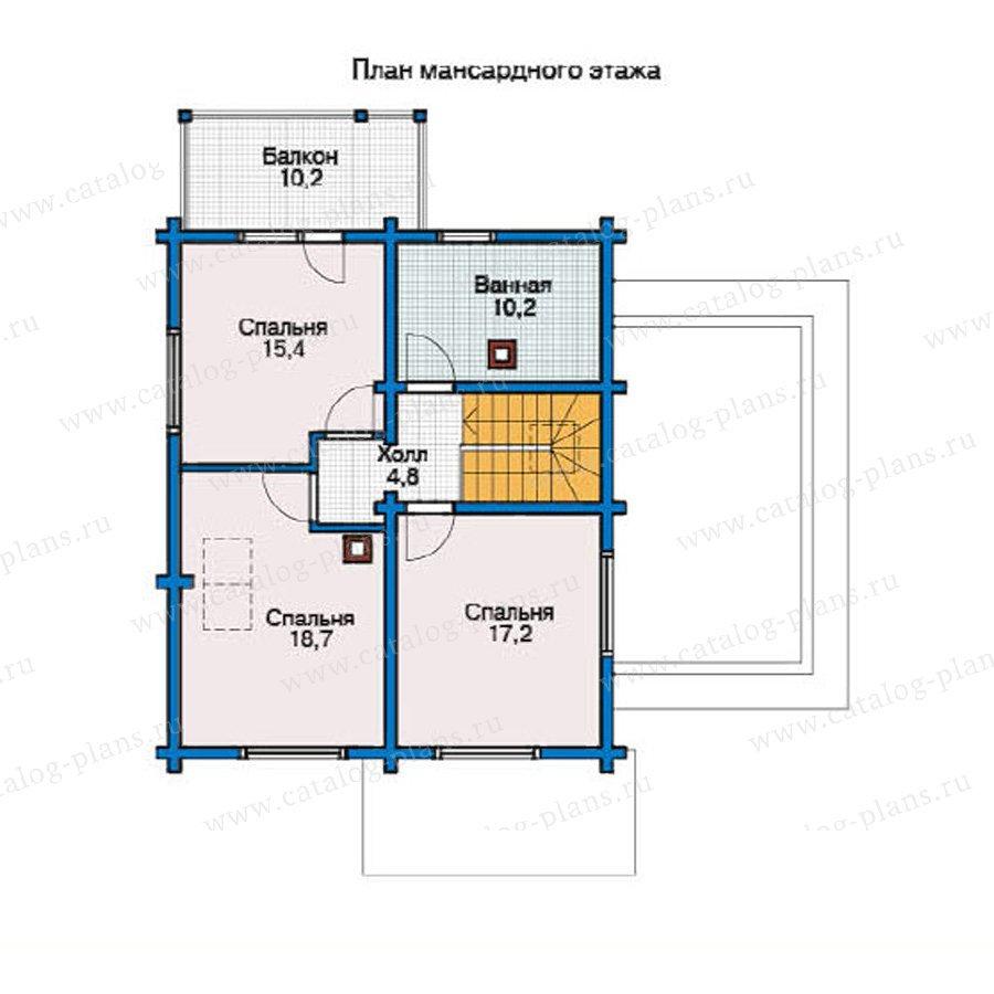 План 2-этажа проекта 11-88