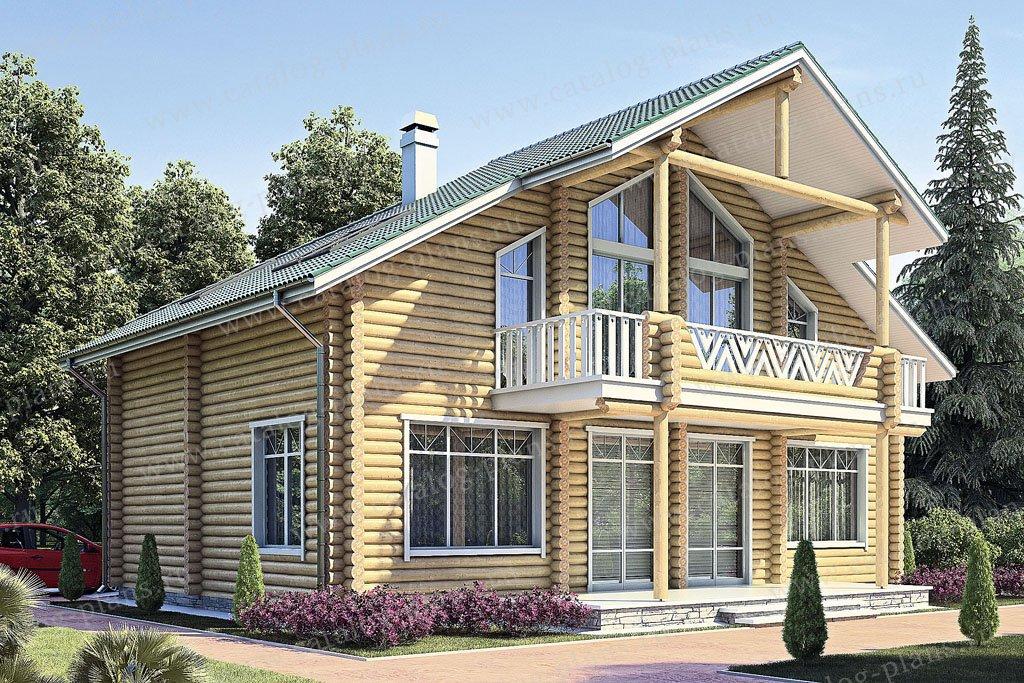 Проект жилой дом #11-52 материал - дерево, стиль современный