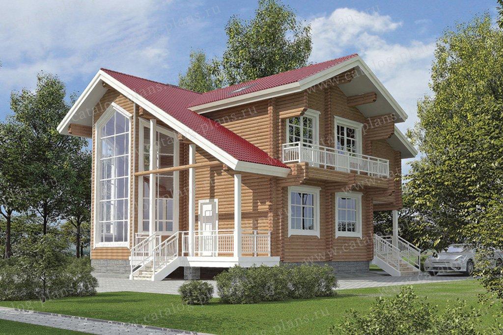 Проект жилой дом #11-12 материал - дерево, стиль скандинавский