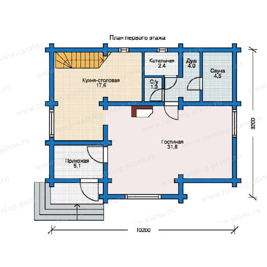 План 1-этажа проекта 12-31