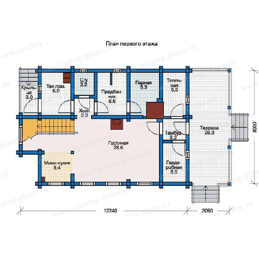 План 1-этажа проекта 12-33