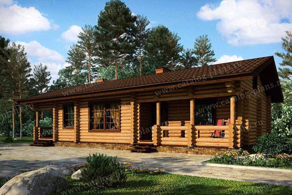 Проект жилой дом/ гостевой жилой дом #11-19 материал - дерево, стиль шведский