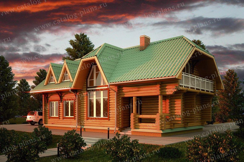 Проект баня/гостевой жилой дом #11-20 материал - дерево, стиль европейский