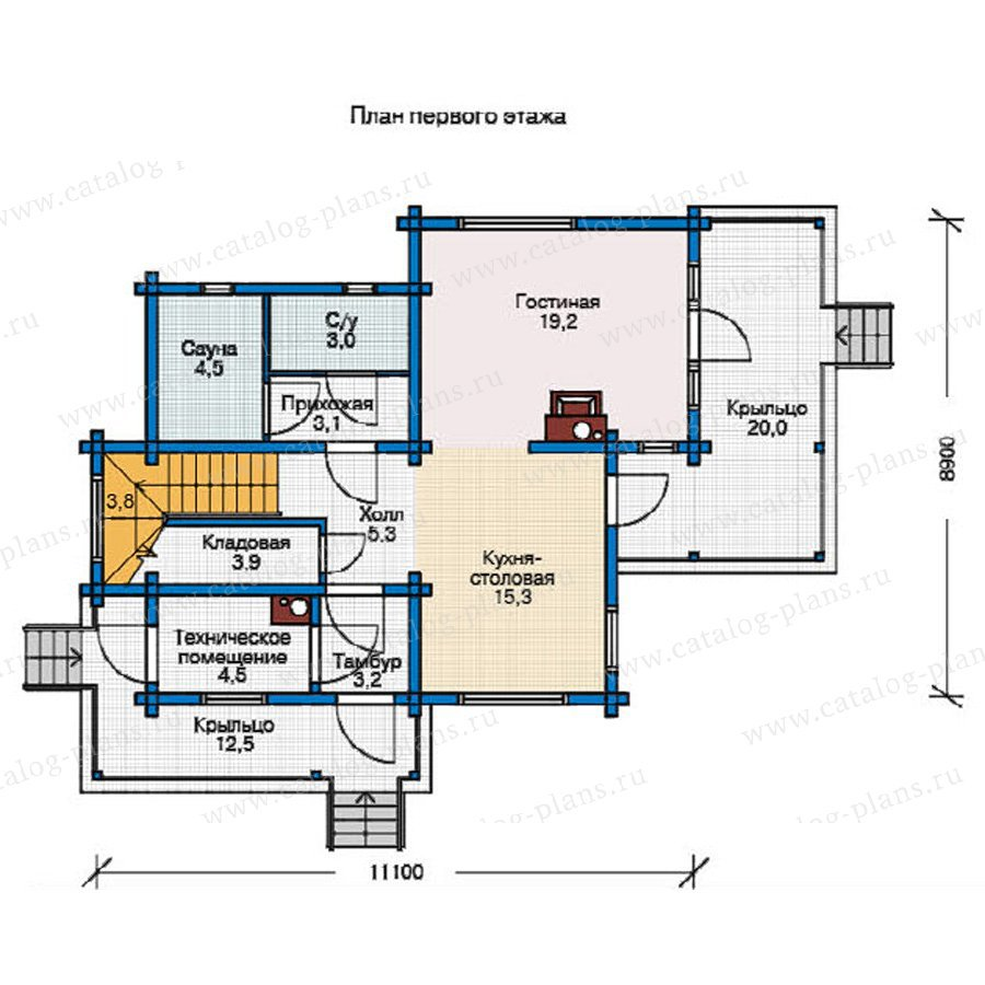 План 1-этажа проекта 11-81