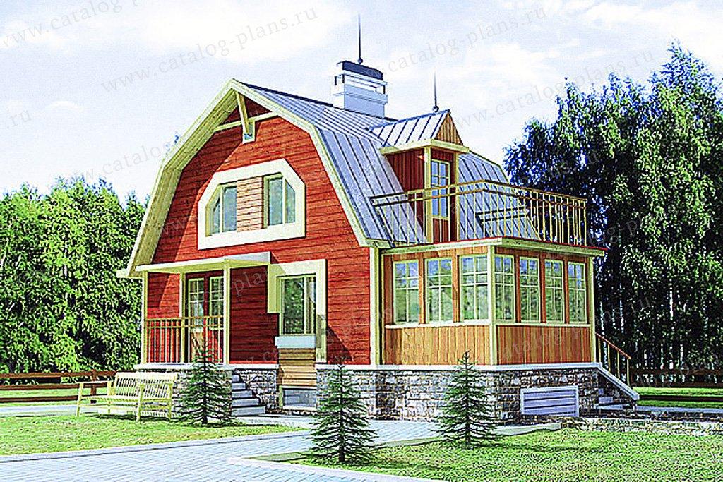 Проект загородного дома из бруса, оцилиндрованного бревна, к.