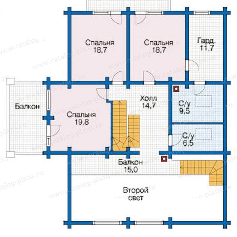 План 2-этажа проекта 12-47