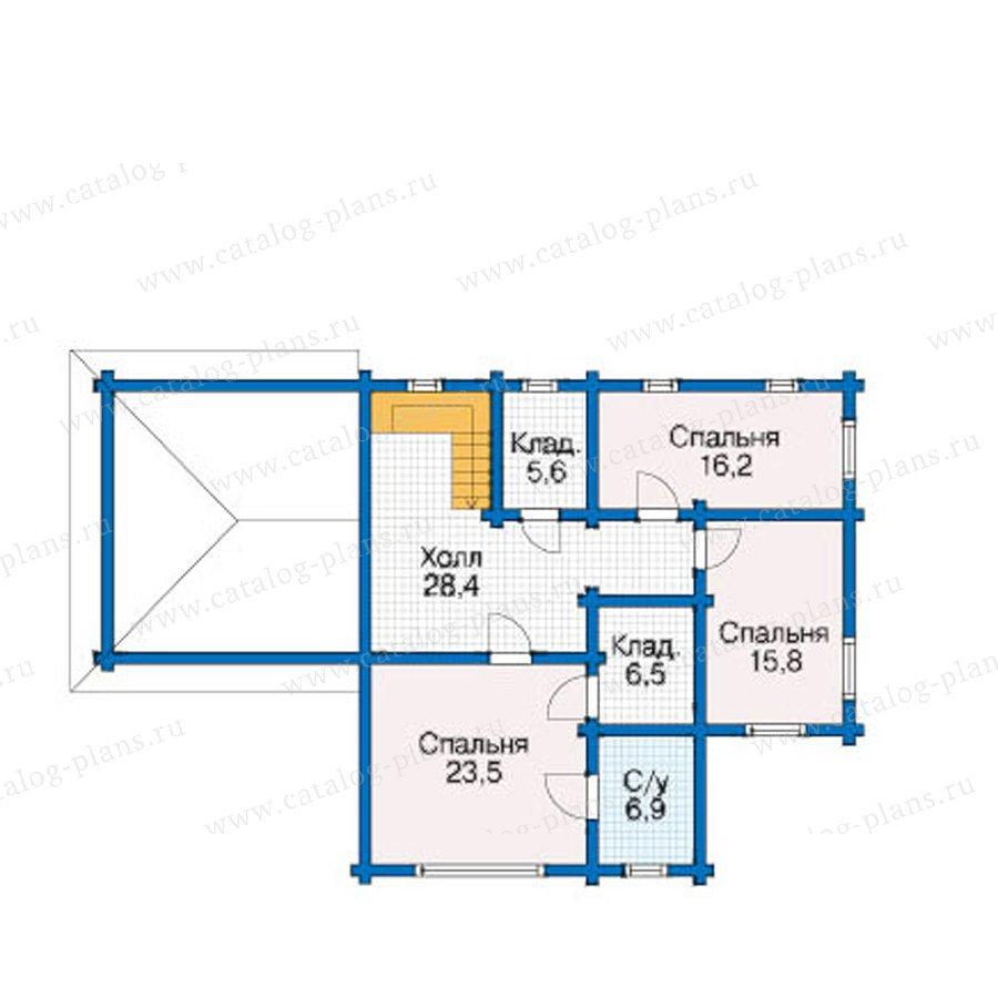 План 2-этажа проекта 12-50