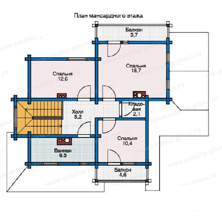 План 2-этажа проекта 11-81