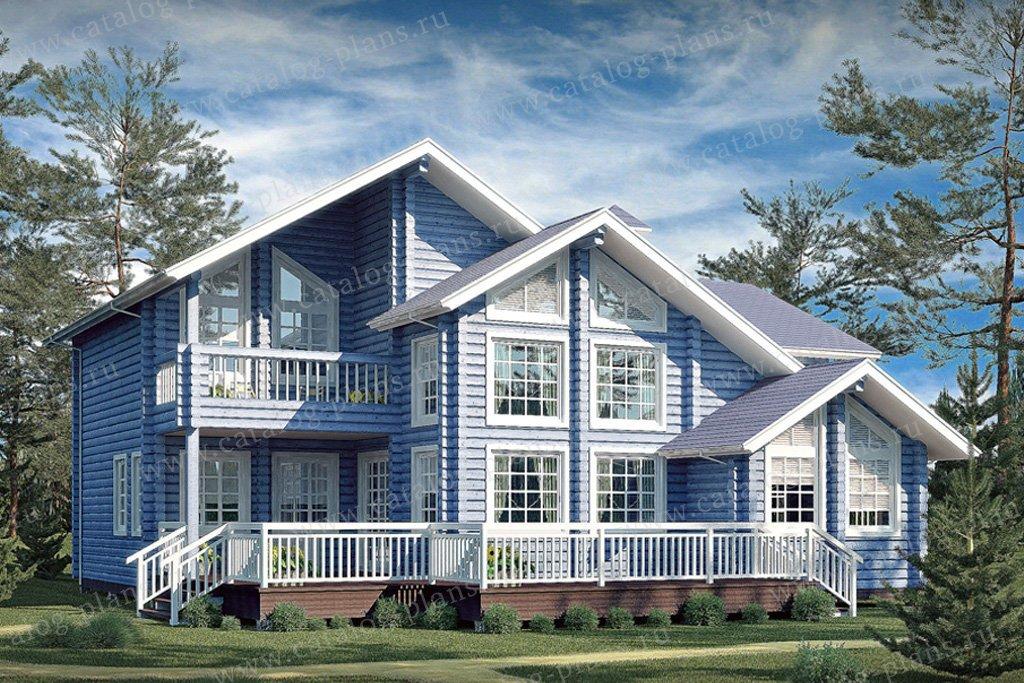 Проект жилой дом #11-37 материал - дерево, стиль современный