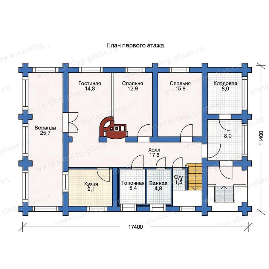 План 1-этажа проекта 11-31