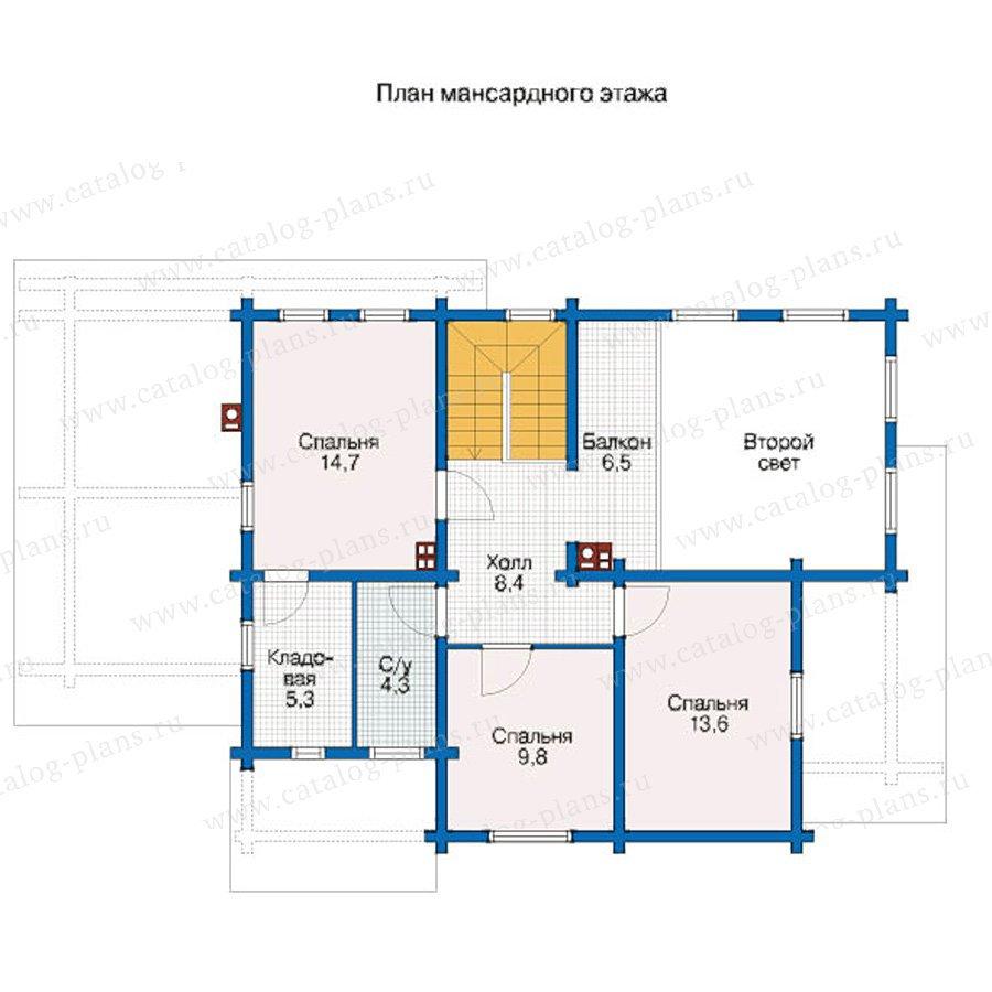 План 2-этажа проекта 12-42