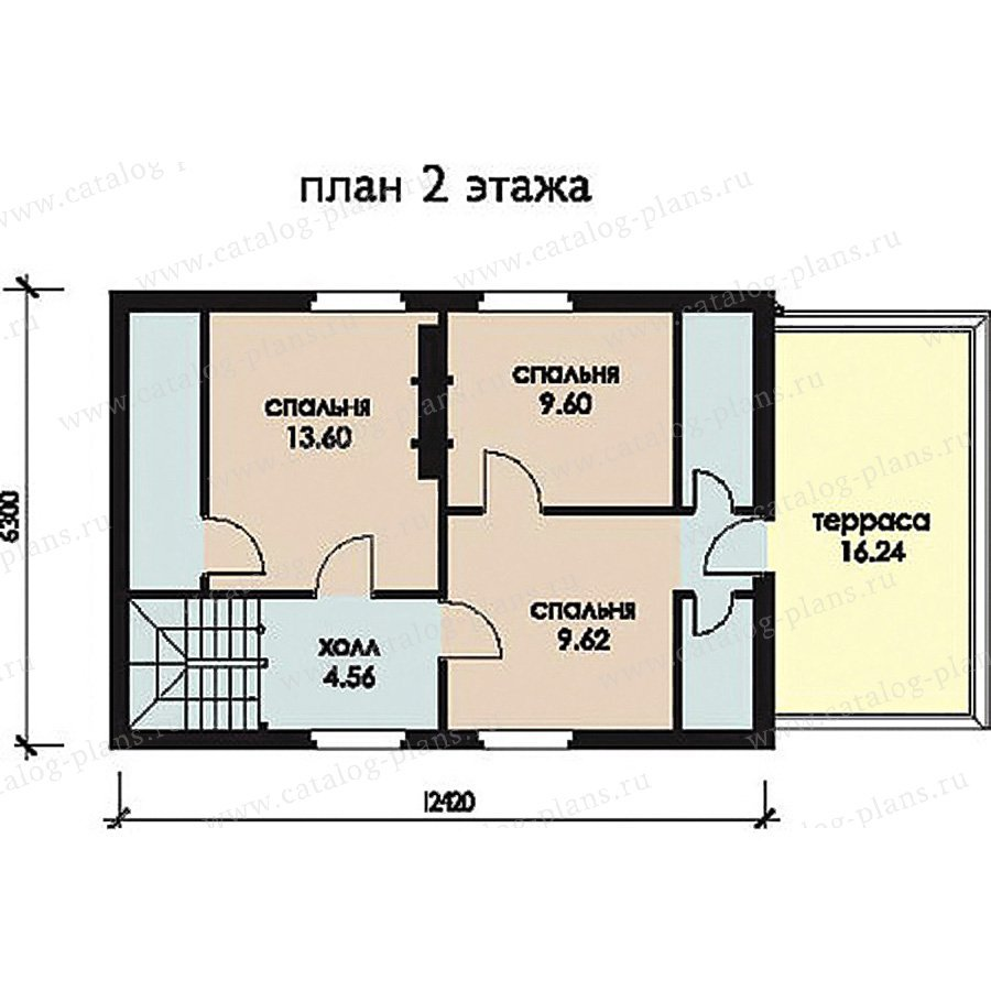 План 2-этажа проекта 11-28