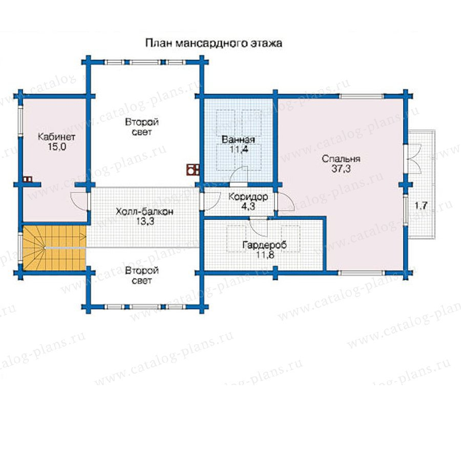 План 2-этажа проекта 12-48