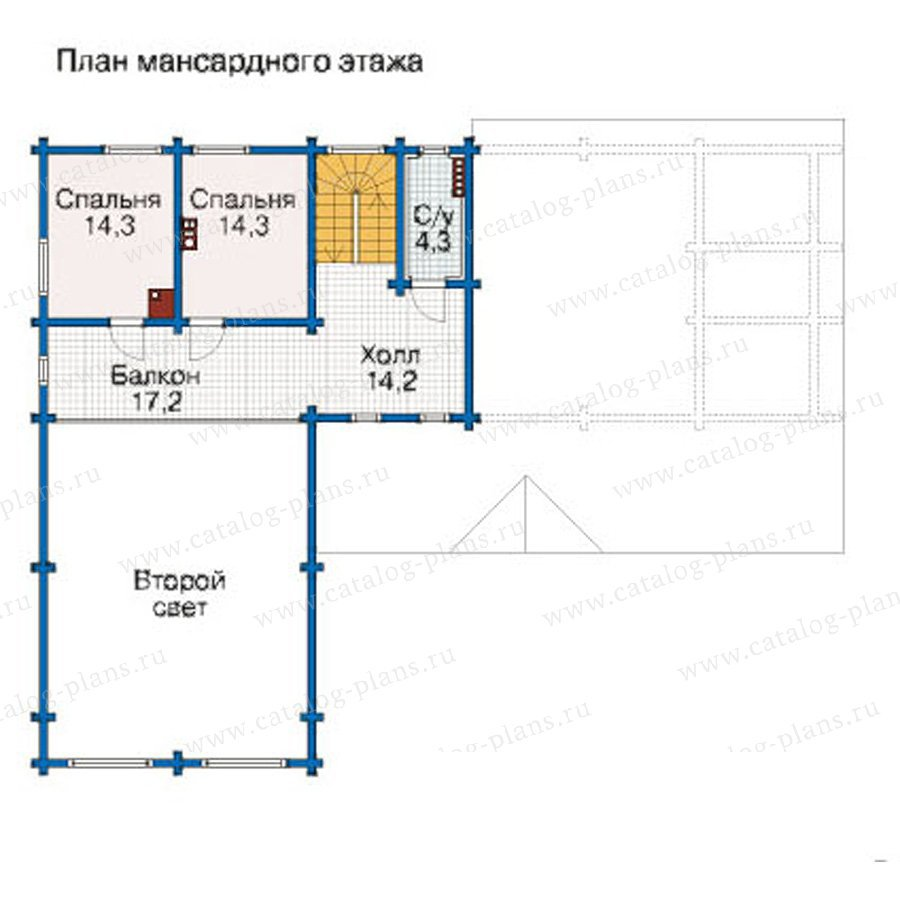 План 3-этажа проекта 12-40