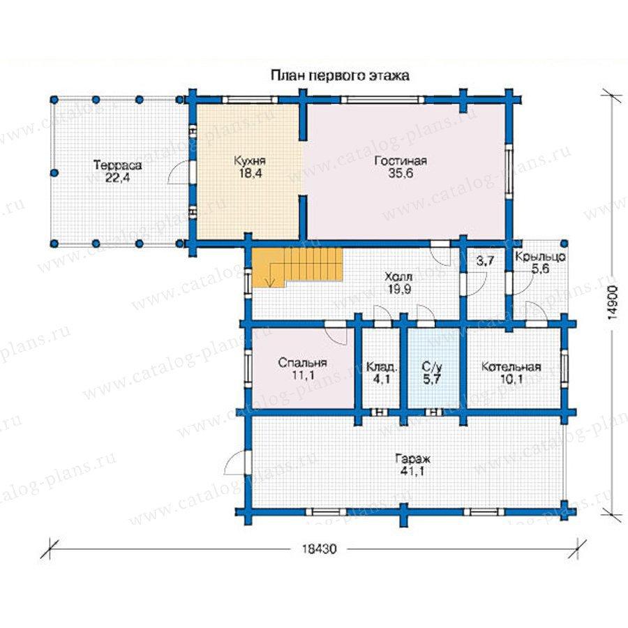 План 1-этажа проекта 12-52