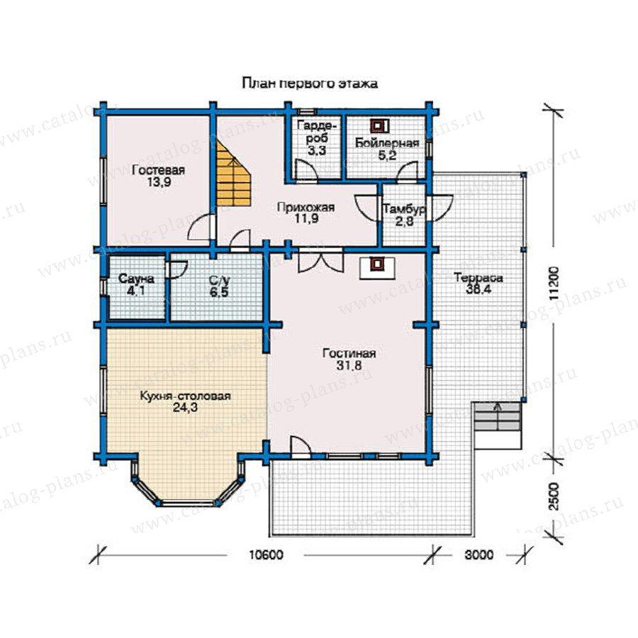 План 1-этажа проекта 11-03