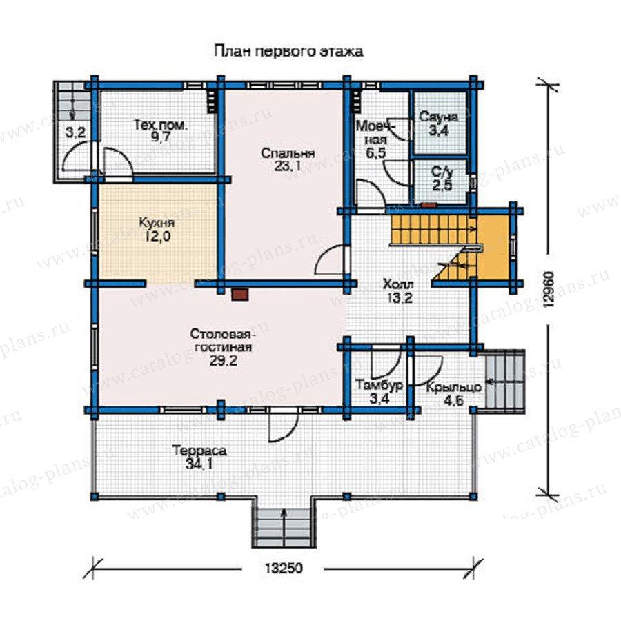 План 1-этажа проекта 12-24