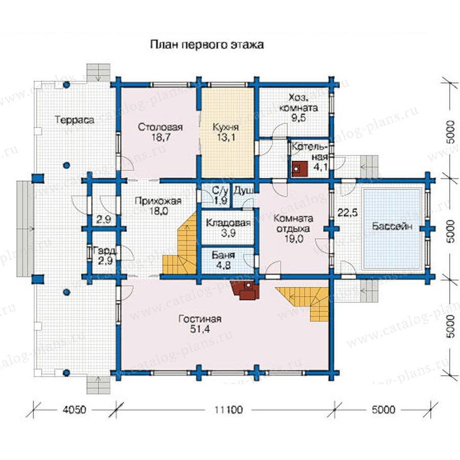 План 1-этажа проекта 12-47