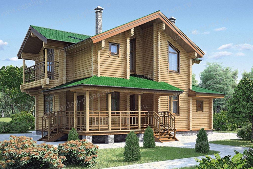 Проект жилой дом #11-80 материал - дерево, стиль скандинавский