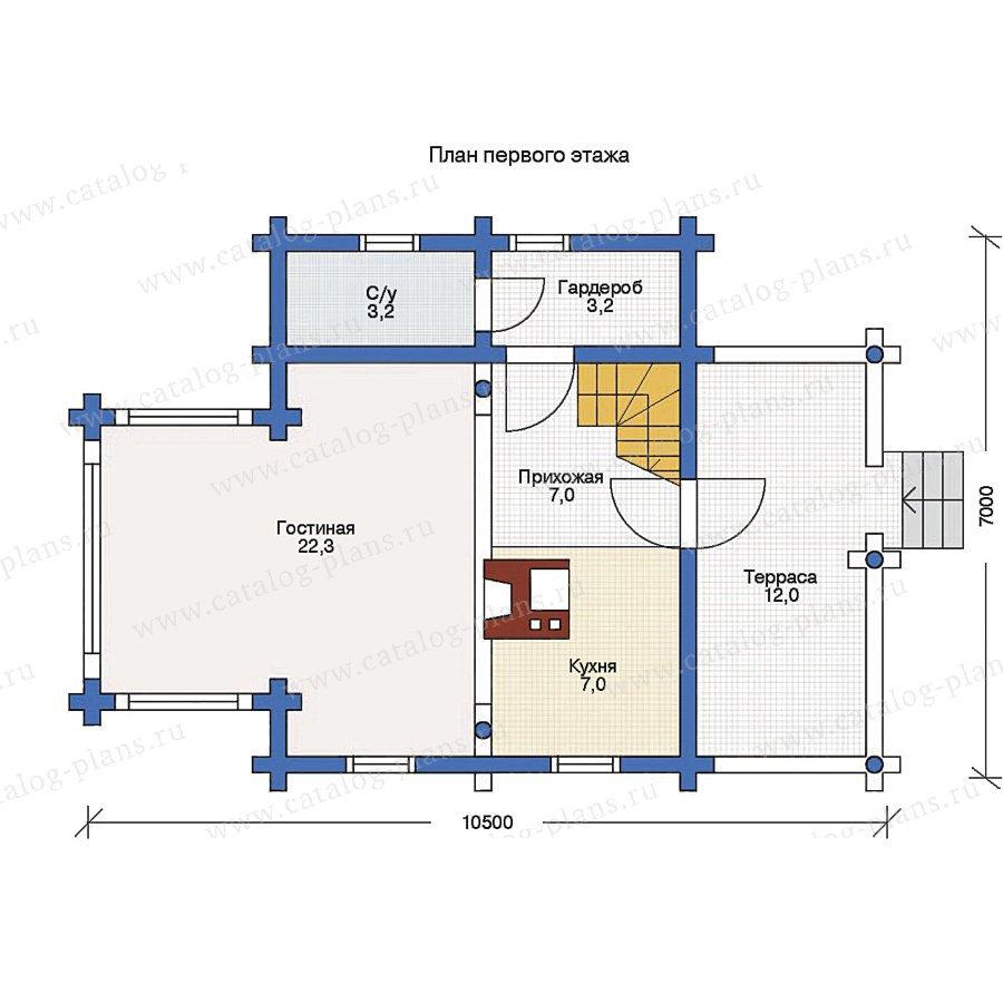 План 1-этажа проекта 11-34