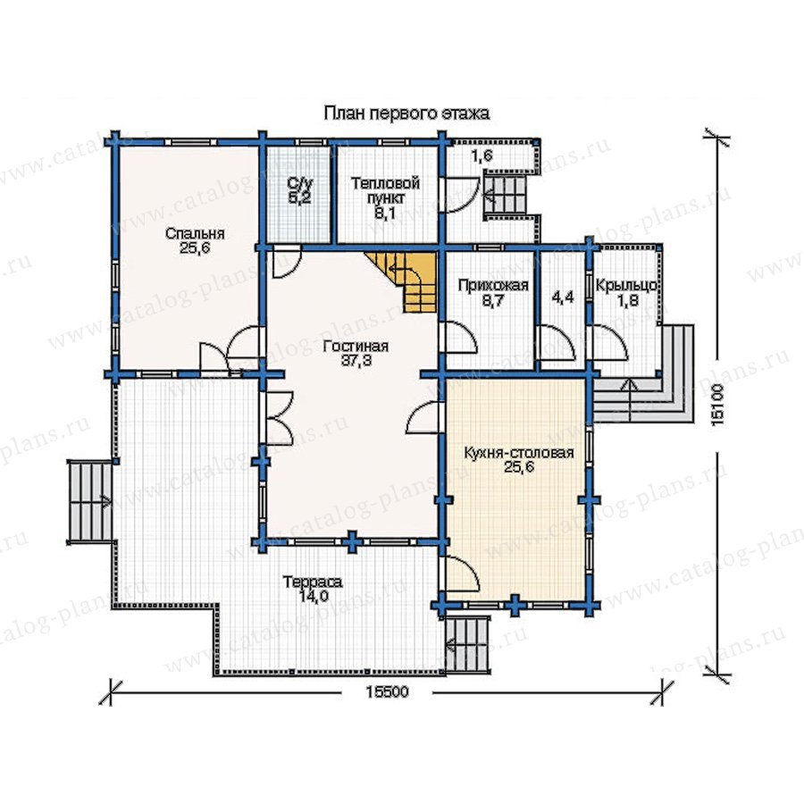 План 1-этажа проекта 11-37