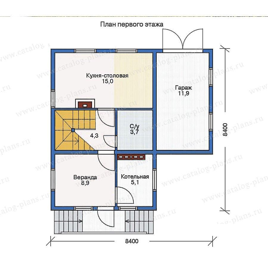 План 1-этажа проекта 11-25
