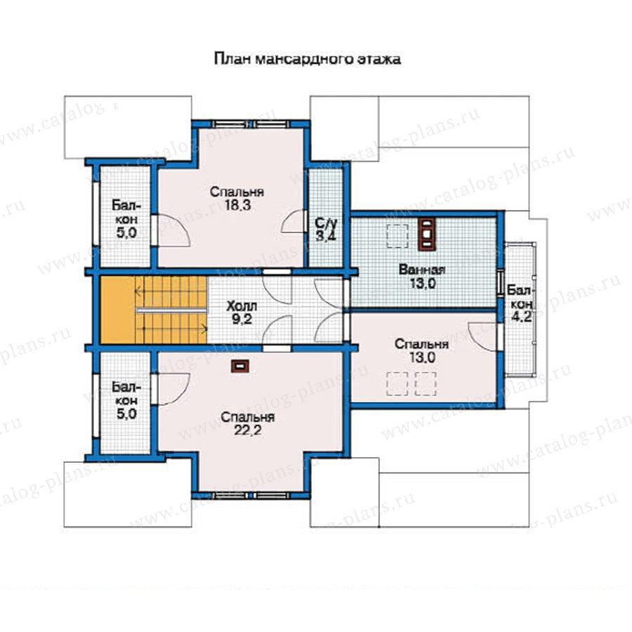 План 2-этажа проекта 12-28