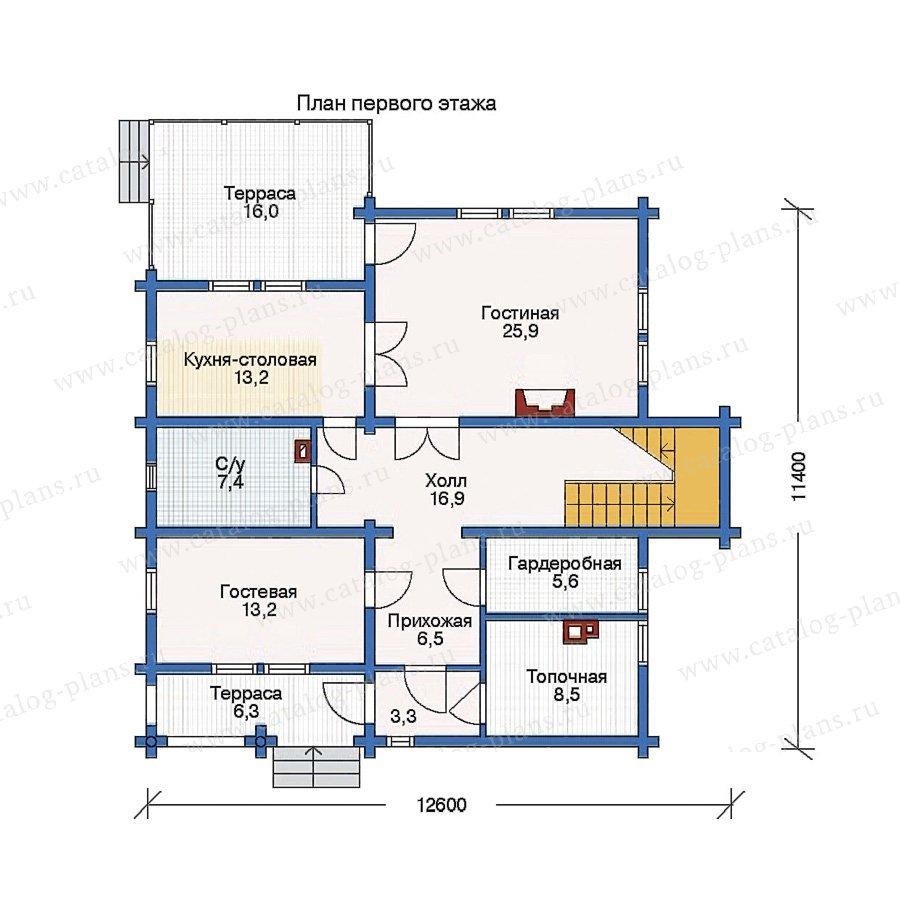 План 1-этажа проекта 11-41