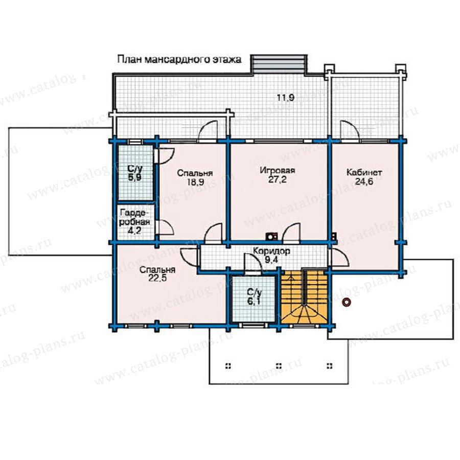 План 2-этажа проекта 11-55