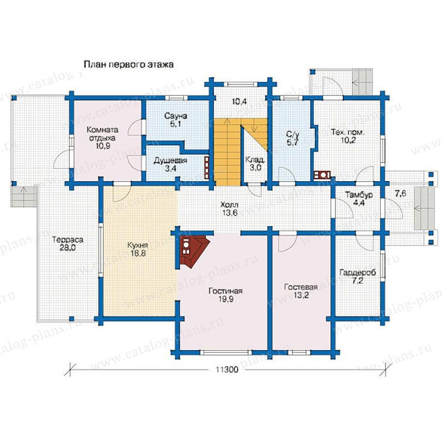 План 1-этажа проекта 12-60