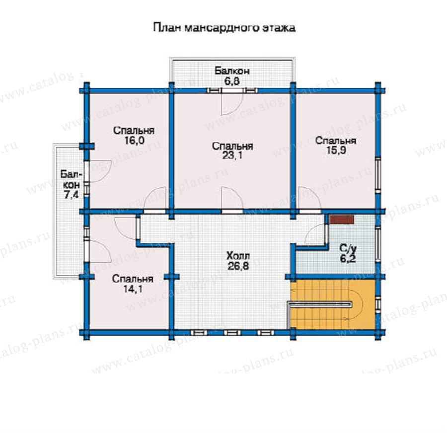 План 2-этажа проекта 12-27
