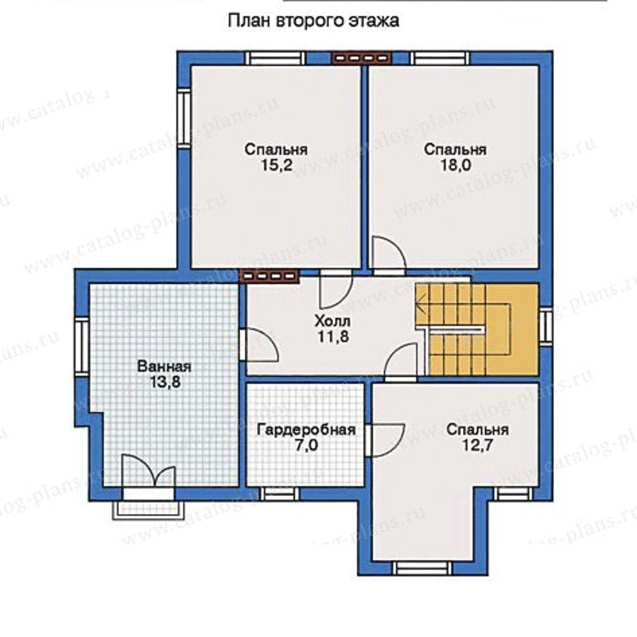 План 2-этажа проекта 31-76