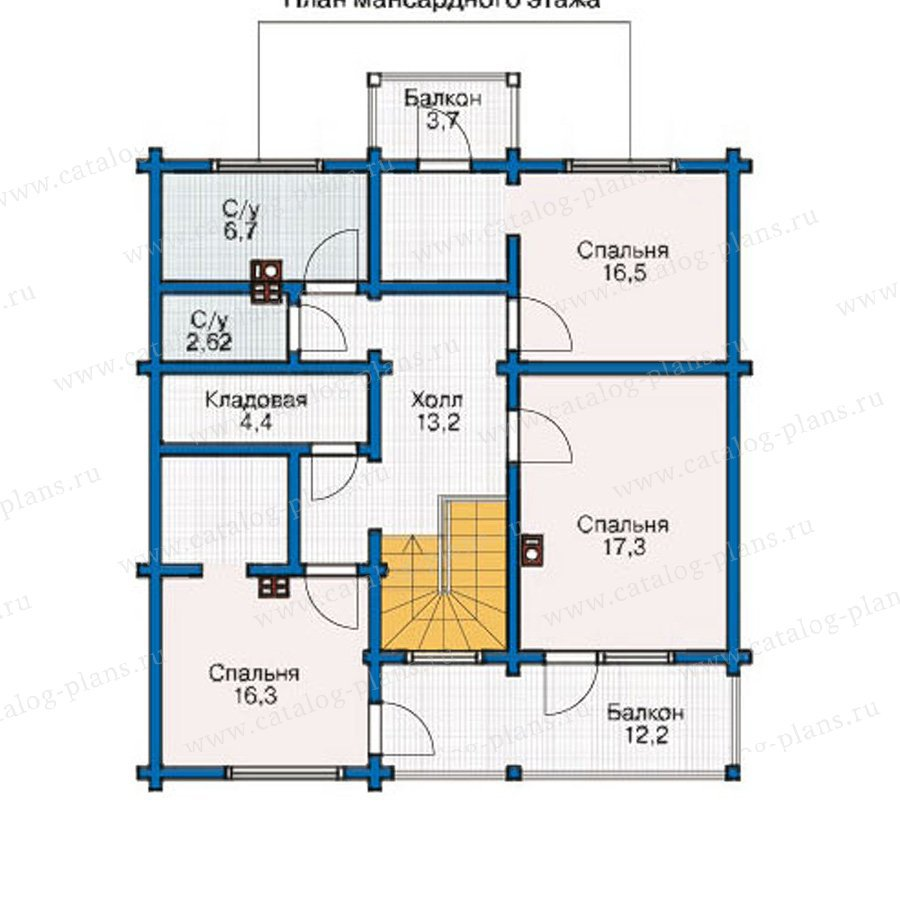 План 2-этажа проекта 12-39