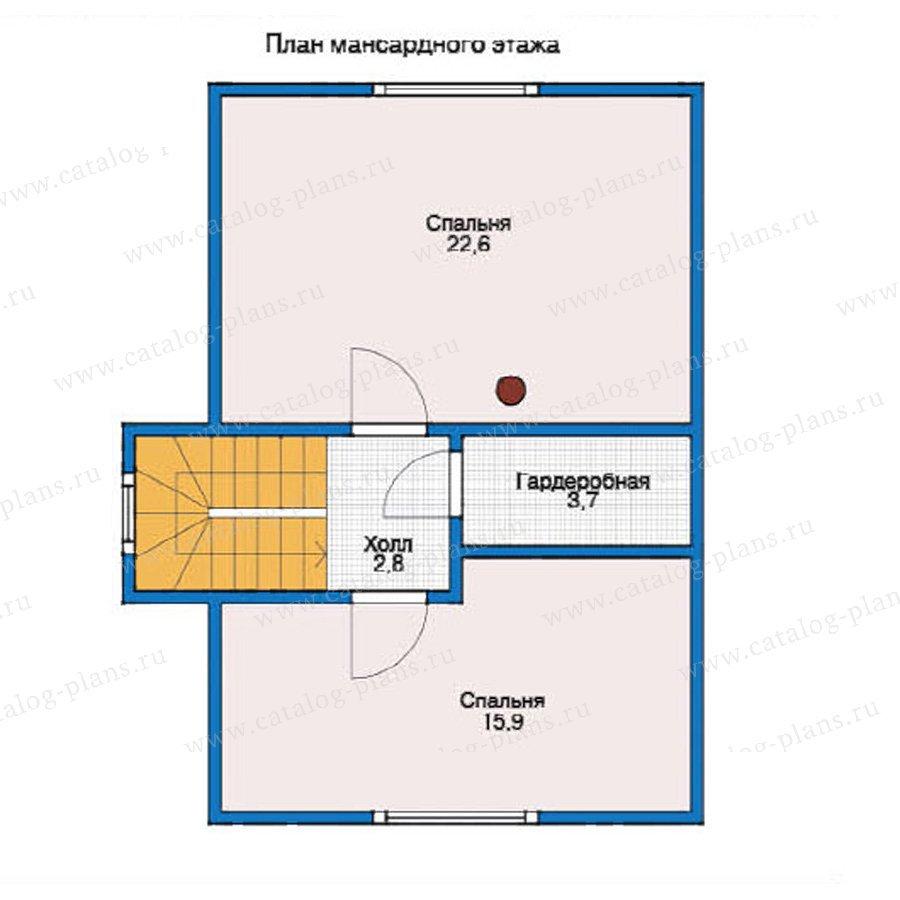 План 2-этажа проекта 12-26