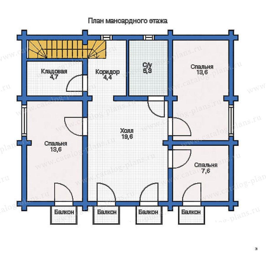 План 2-этажа проекта 12-30