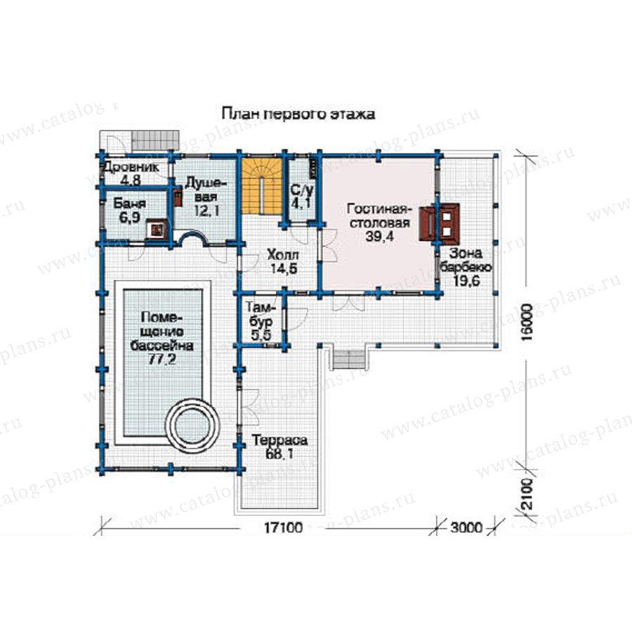План 2-этажа проекта 12-37