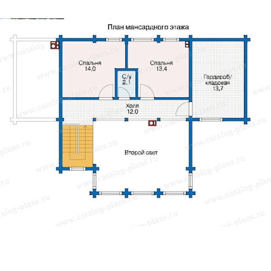План 2-этажа проекта 12-45