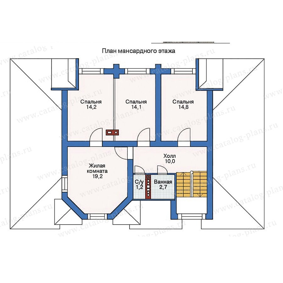 План 2-этажа проекта 11-31