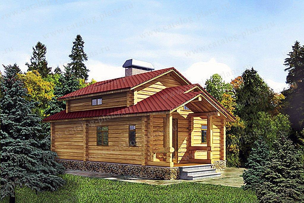 Проект баня/гостевой жилой дом #11-29 материал - дерево, стиль шведский