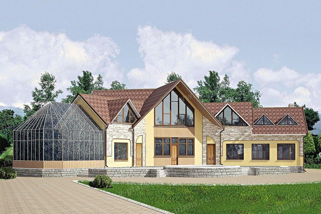 Проект жилой дом #11-26 материал - дерево, стиль английский