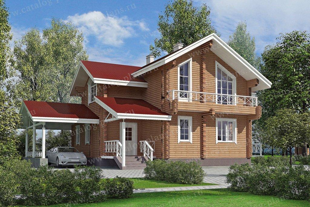 Проект жилой дом #11-10 материал - дерево, стиль современный
