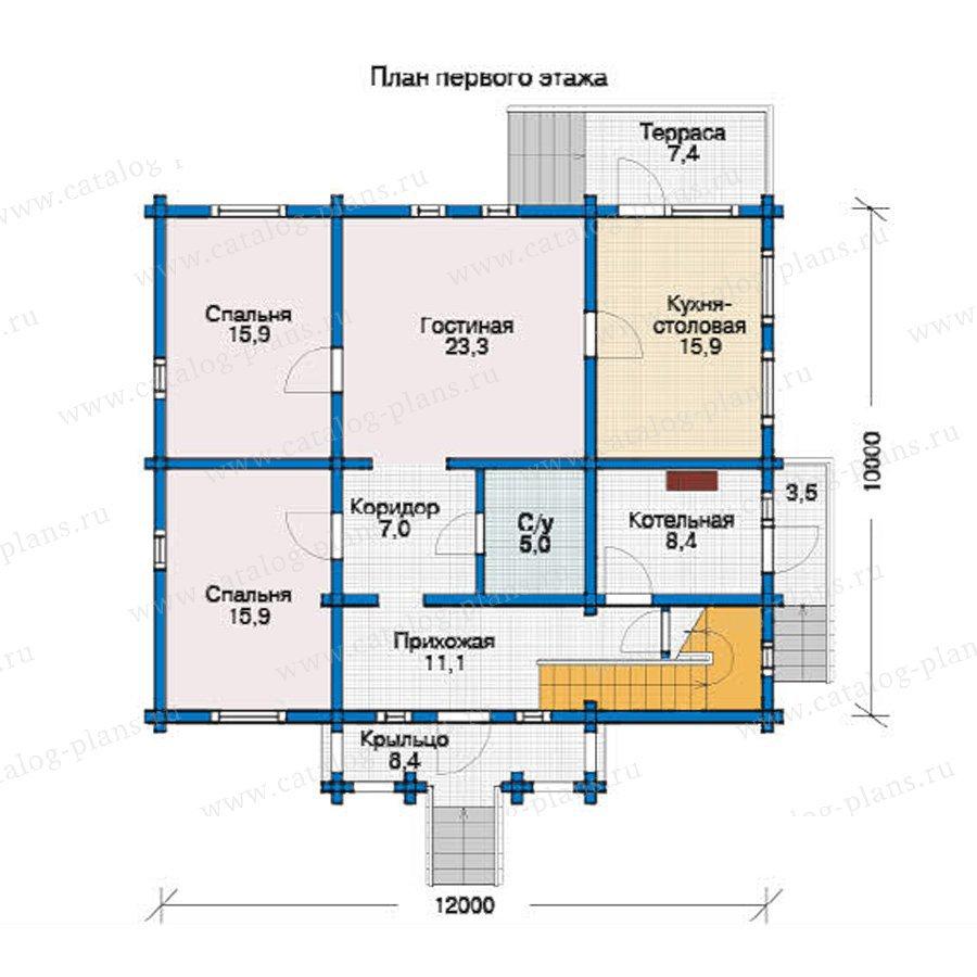 План 1-этажа проекта 12-27