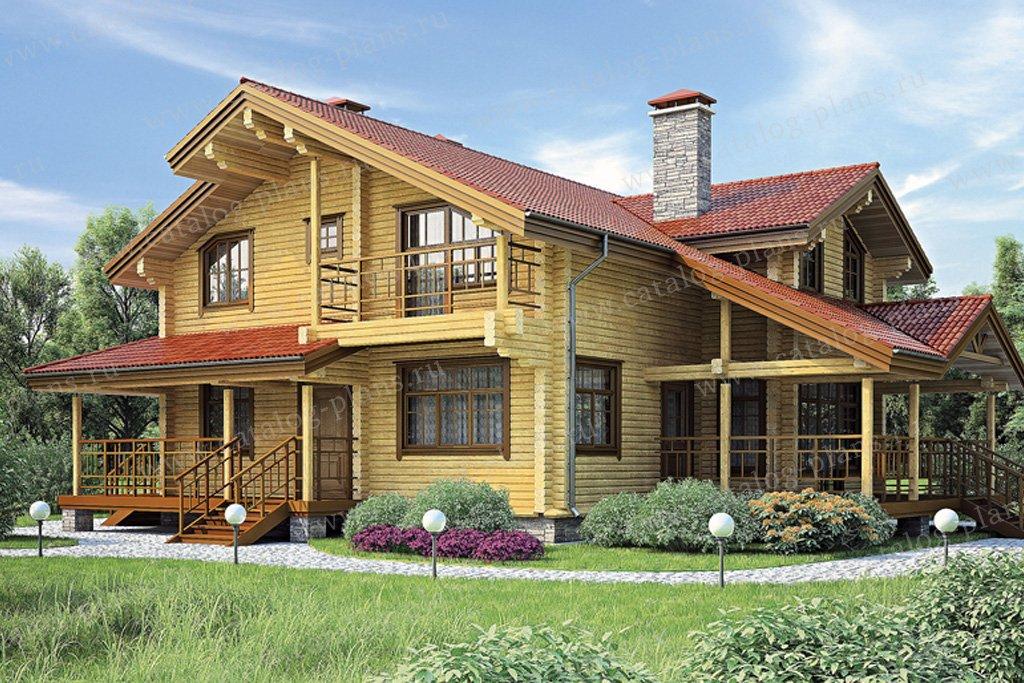 Проект жилой дом #11-81 материал - дерево, стиль шале