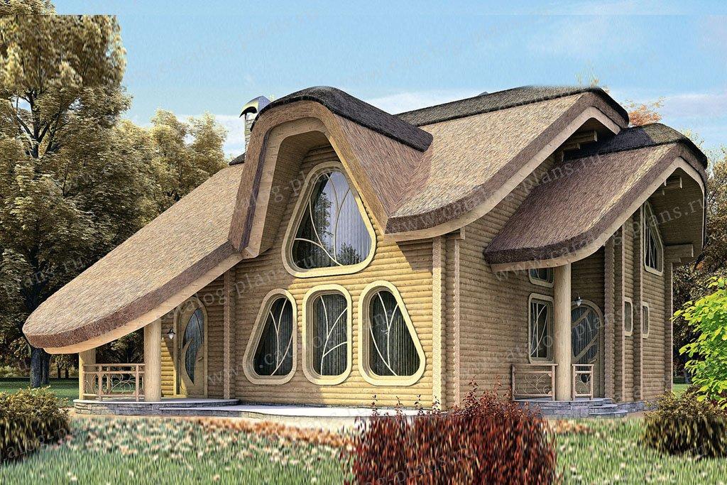 Проект жилой дом #11-18 материал - дерево, стиль чешский