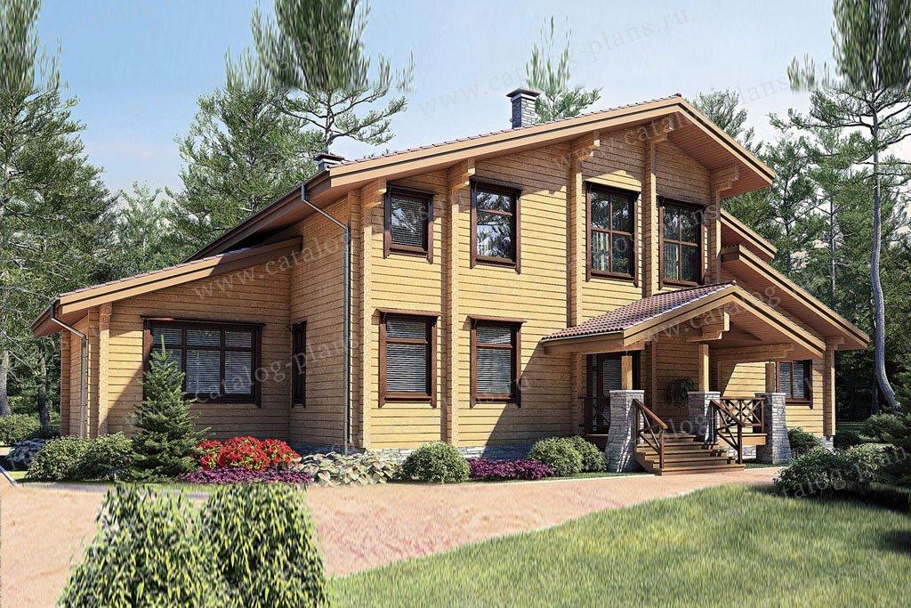 Проект жилой дом #11-55 материал - дерево, стиль современный