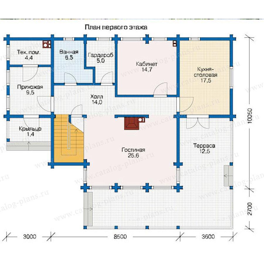 План 1-этажа проекта 12-45